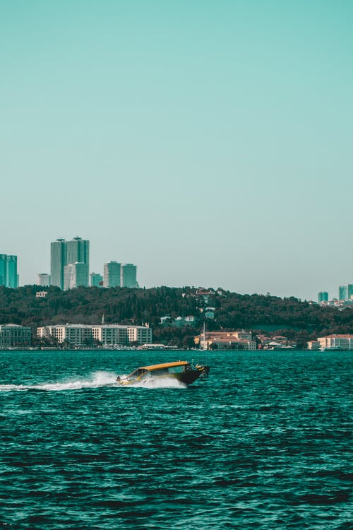 Imagine de stoc gratuită din apă albastră, barcă cu motor, bosphorus, curcan