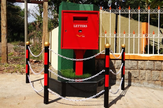 Free stock photo of red, india, barricade, post box