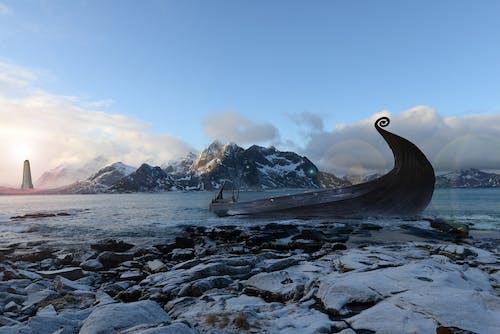 คลังภาพถ่ายฟรี ของ ชาวสแกนดิเนเวียน, นอร์เวย์, เรือไวกิ้ง