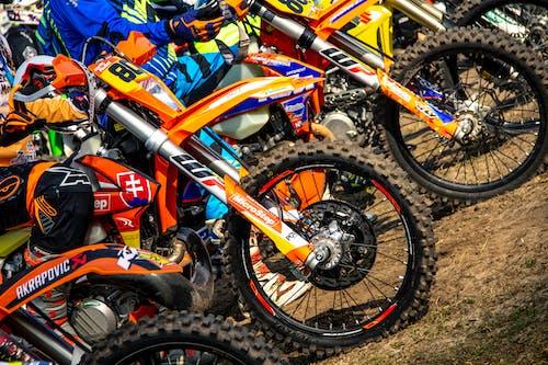 Orange Motocross Bike