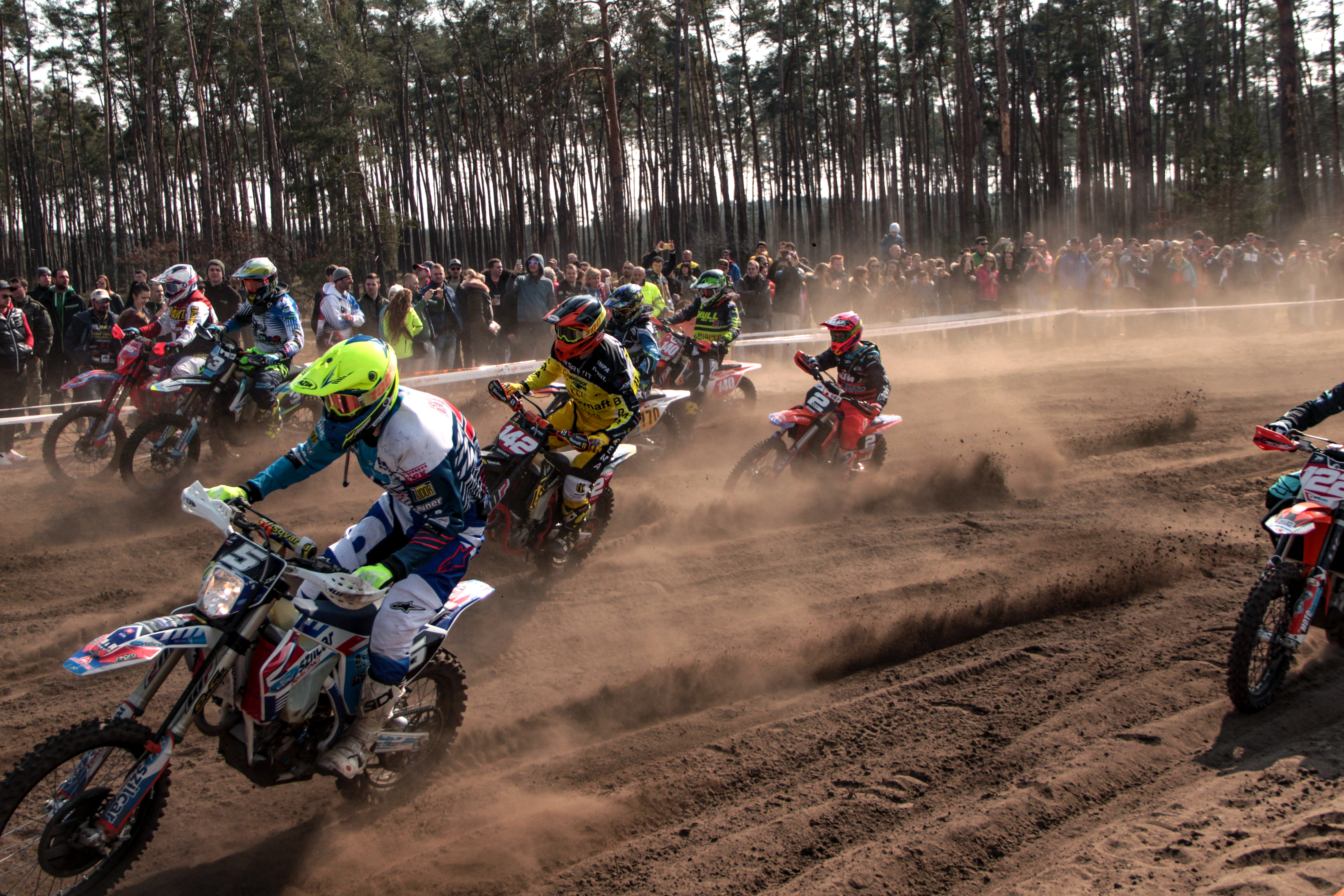 Group of People Watching Motocross