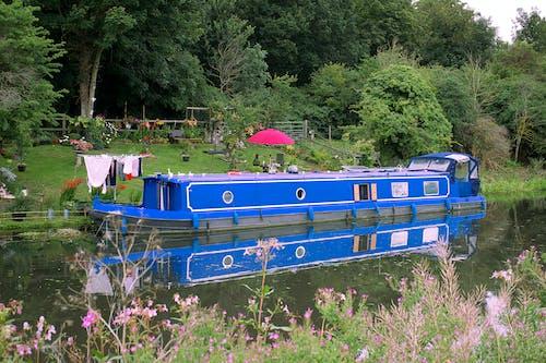 Immagine gratuita di barca, campagna, chiatta, fiume