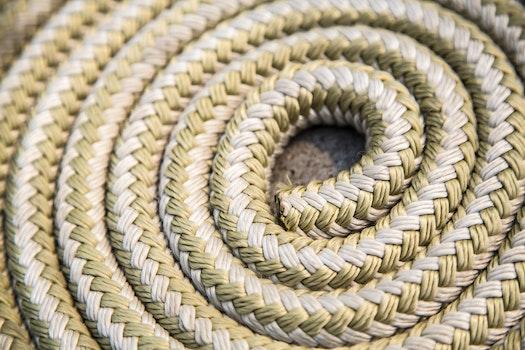 Free stock photo of pattern, rope, blur, spiral