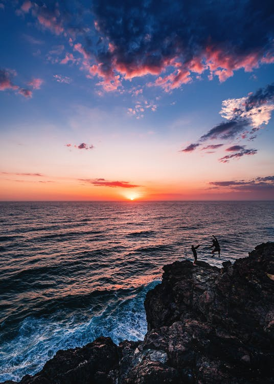 восход, горизонт, живописный