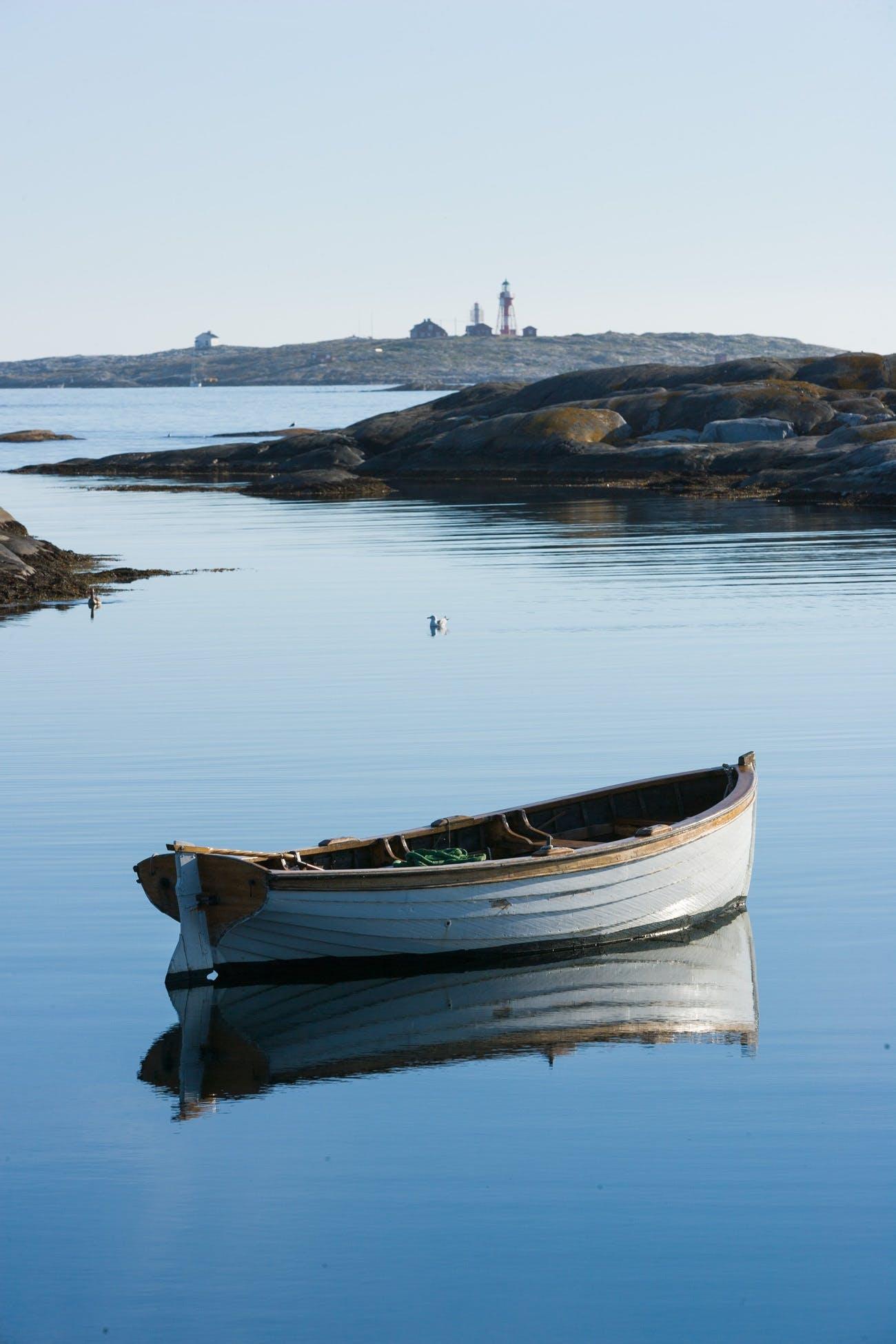 Free stock photo of sea, boat, lighthouse