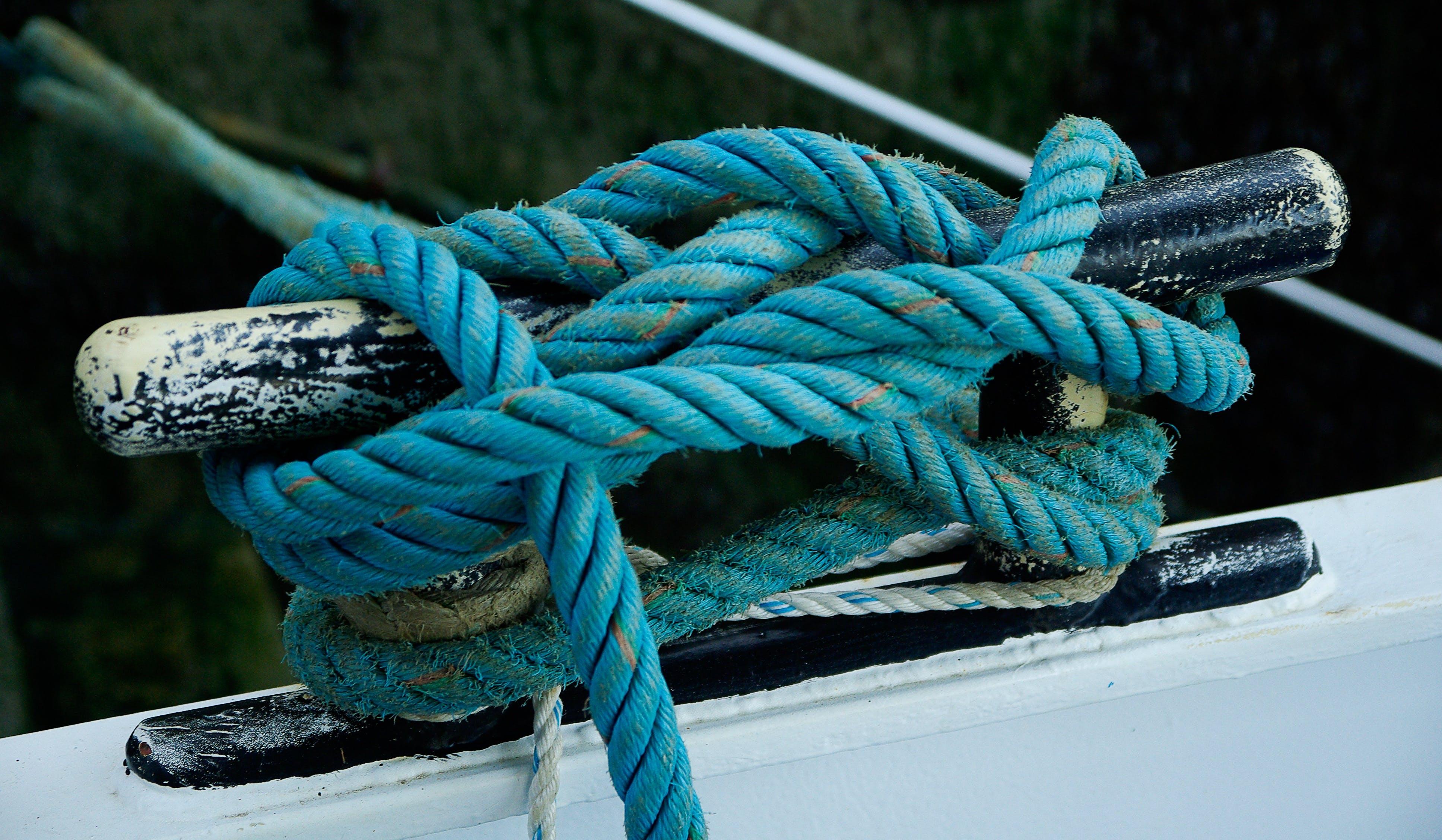Free stock photo of boat, rope, node, fisherman boat
