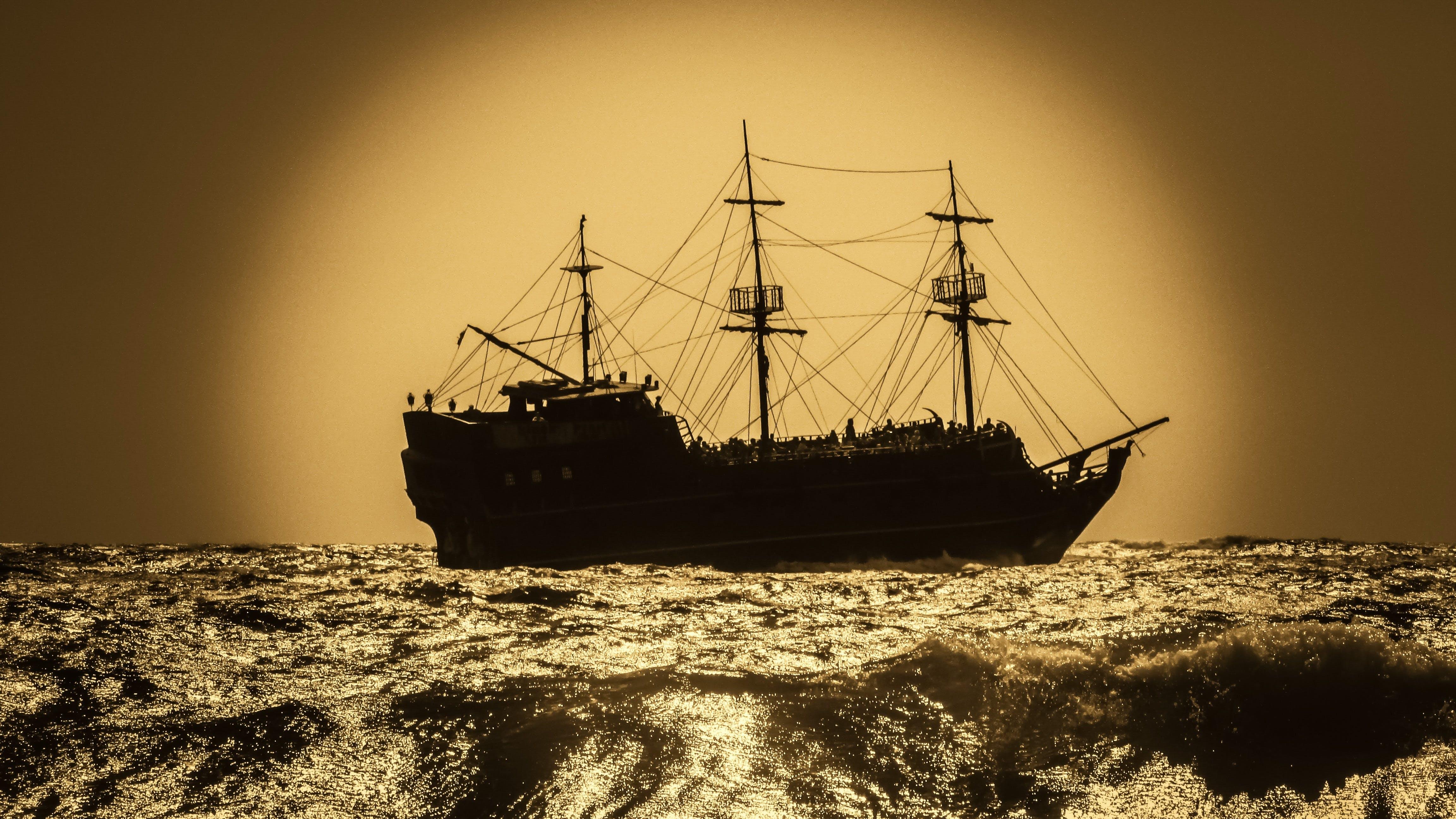 Free stock photo of sailboat, adventure, battleship, warship