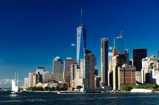 Free stock photo of city, water, skyline, bay