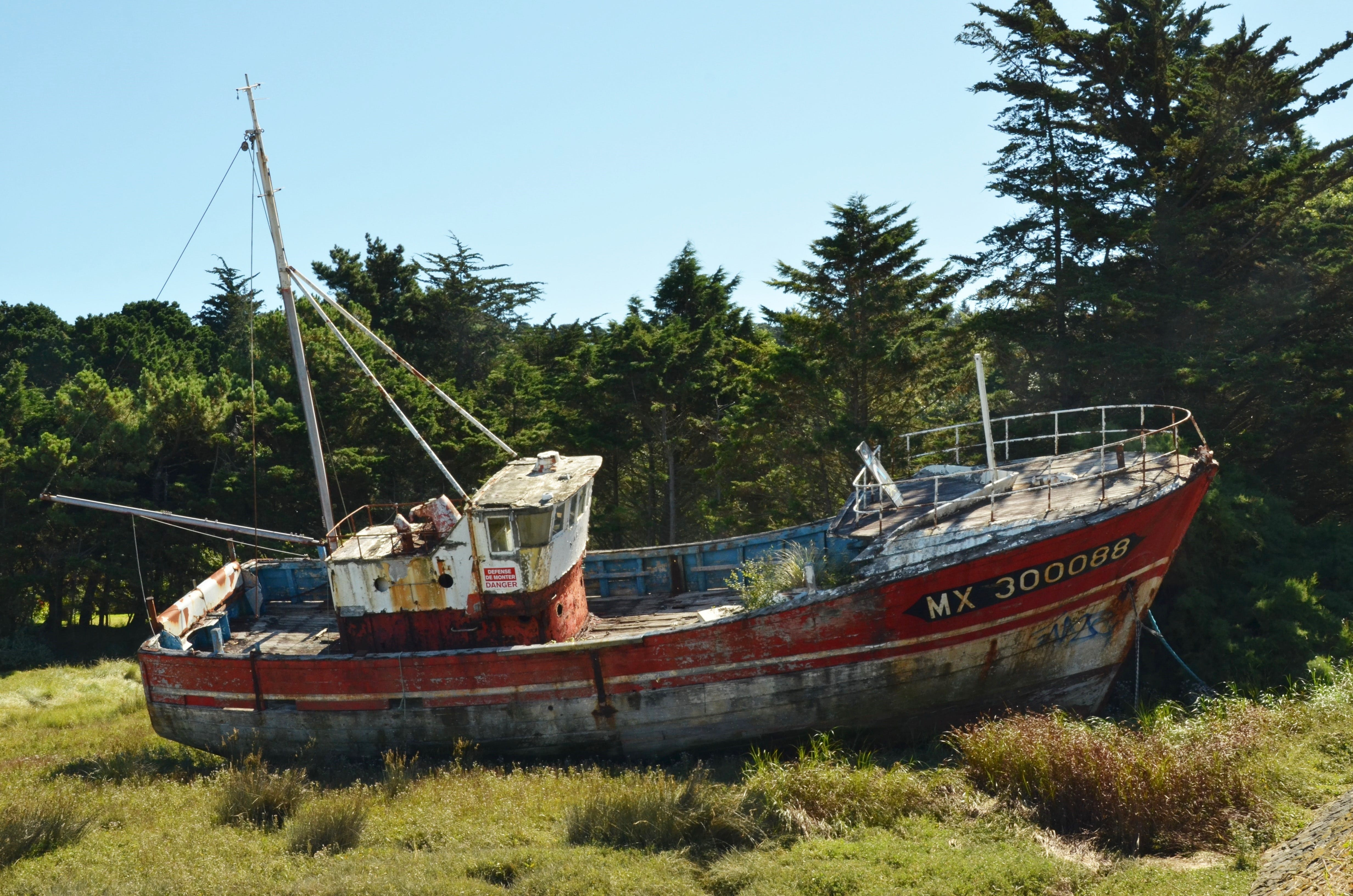 Free stock photo of boat, country, dry, neglect