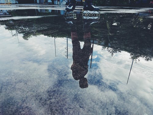Free stock photo of reflection, reflections, roller blades