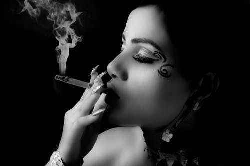Free stock photo of black and white, black background, smoke