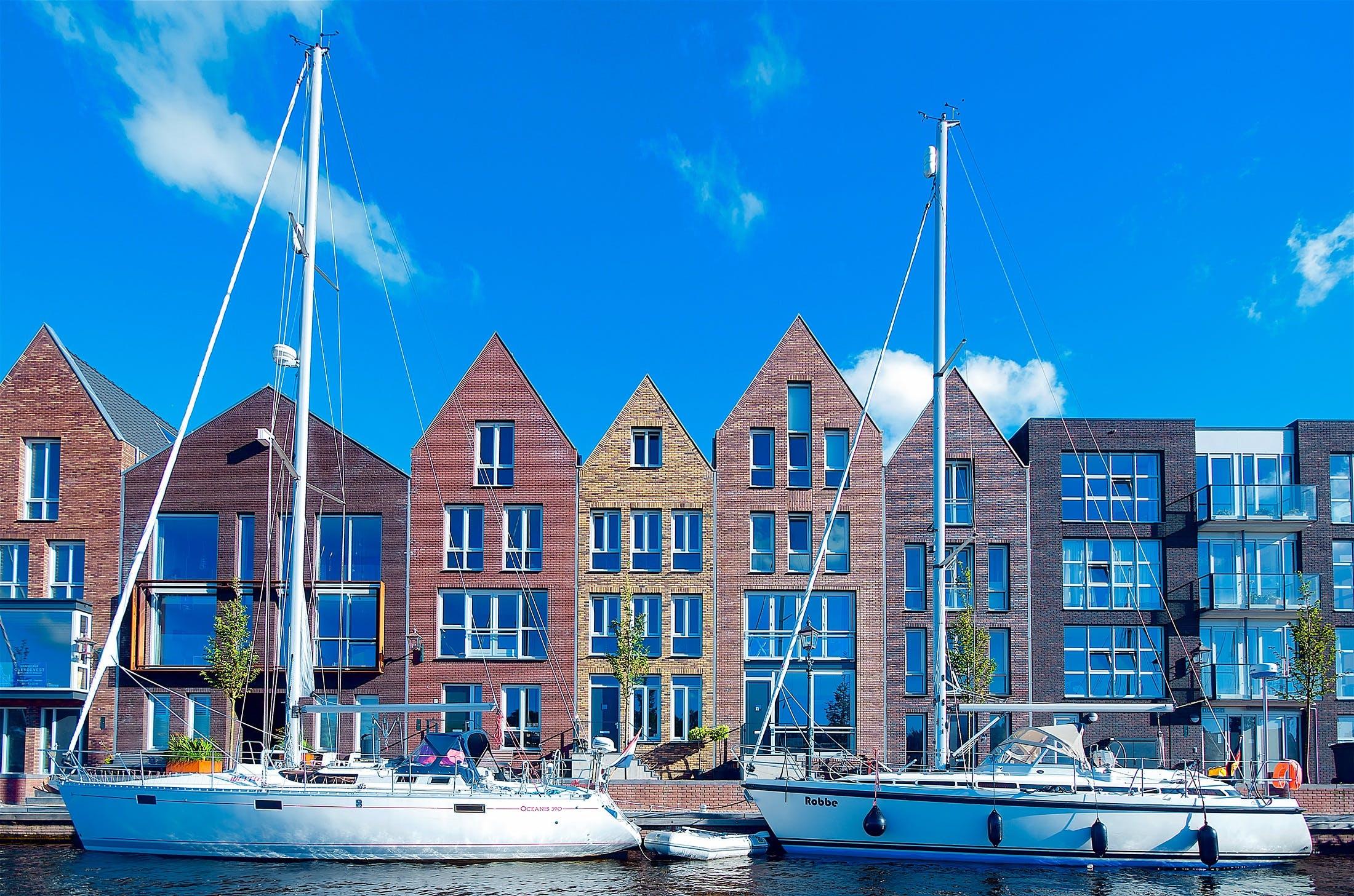 Free stock photo of city, water, bay, boats