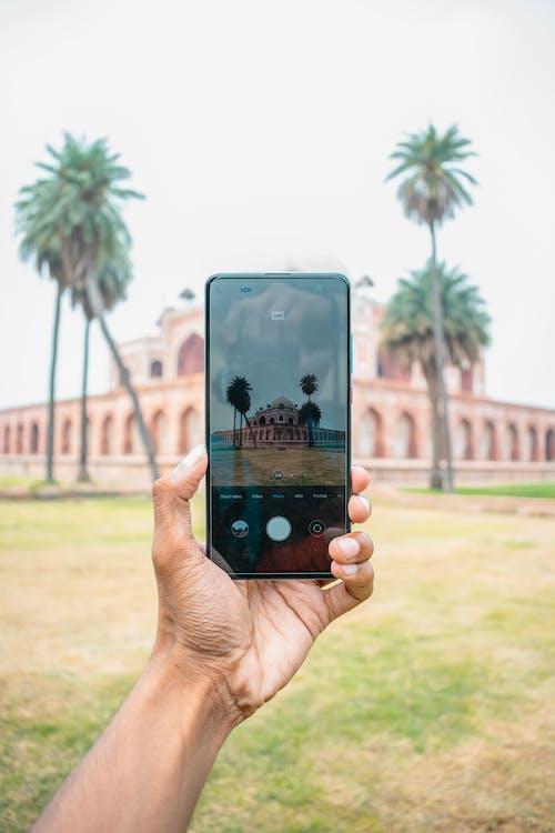 Photos gratuites de écran, électronique, la tombe de l'humayun, mobile