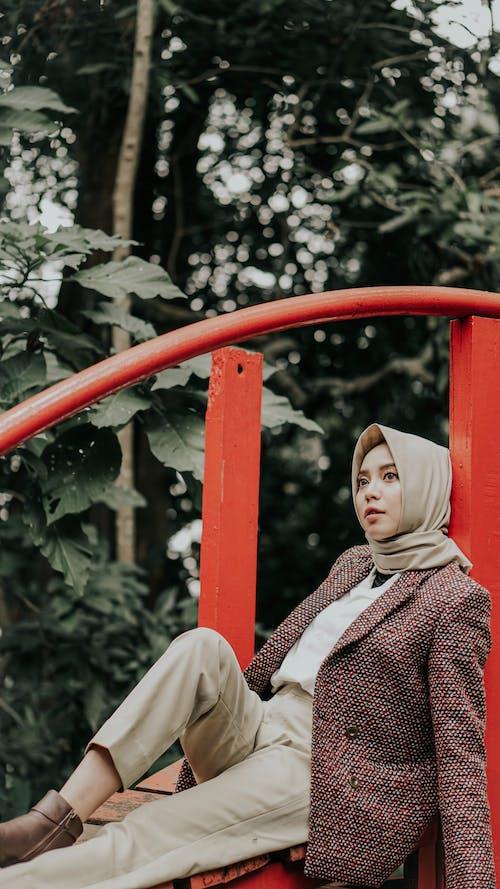 Foto stok gratis bagus, fashion, jilbab, kaum wanita