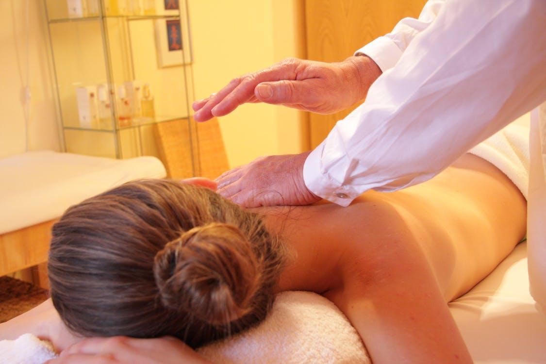 hälsa, massage