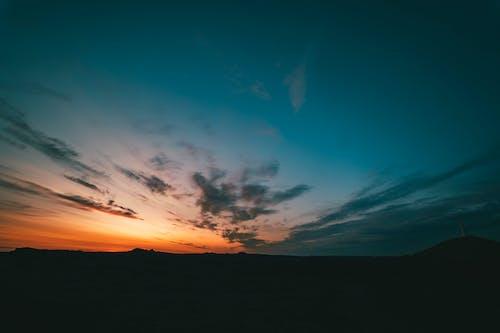 Kostenloses Stock Foto zu dämmerung, himmel, hinterleuchtet, island