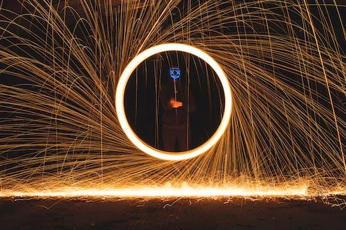 Foto d'estoc gratuïta de creatiu, espectacle de llum, espiral, espurnes