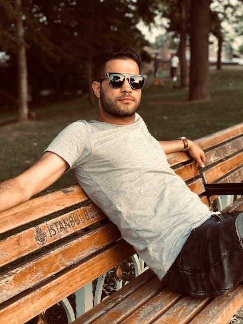 New free stock photo of bench, fashion, man