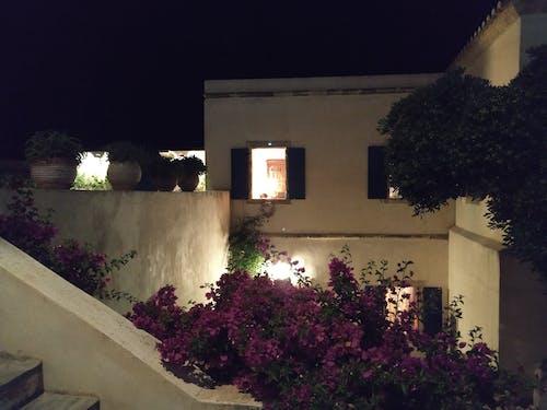 Free stock photo of greek island, house, night