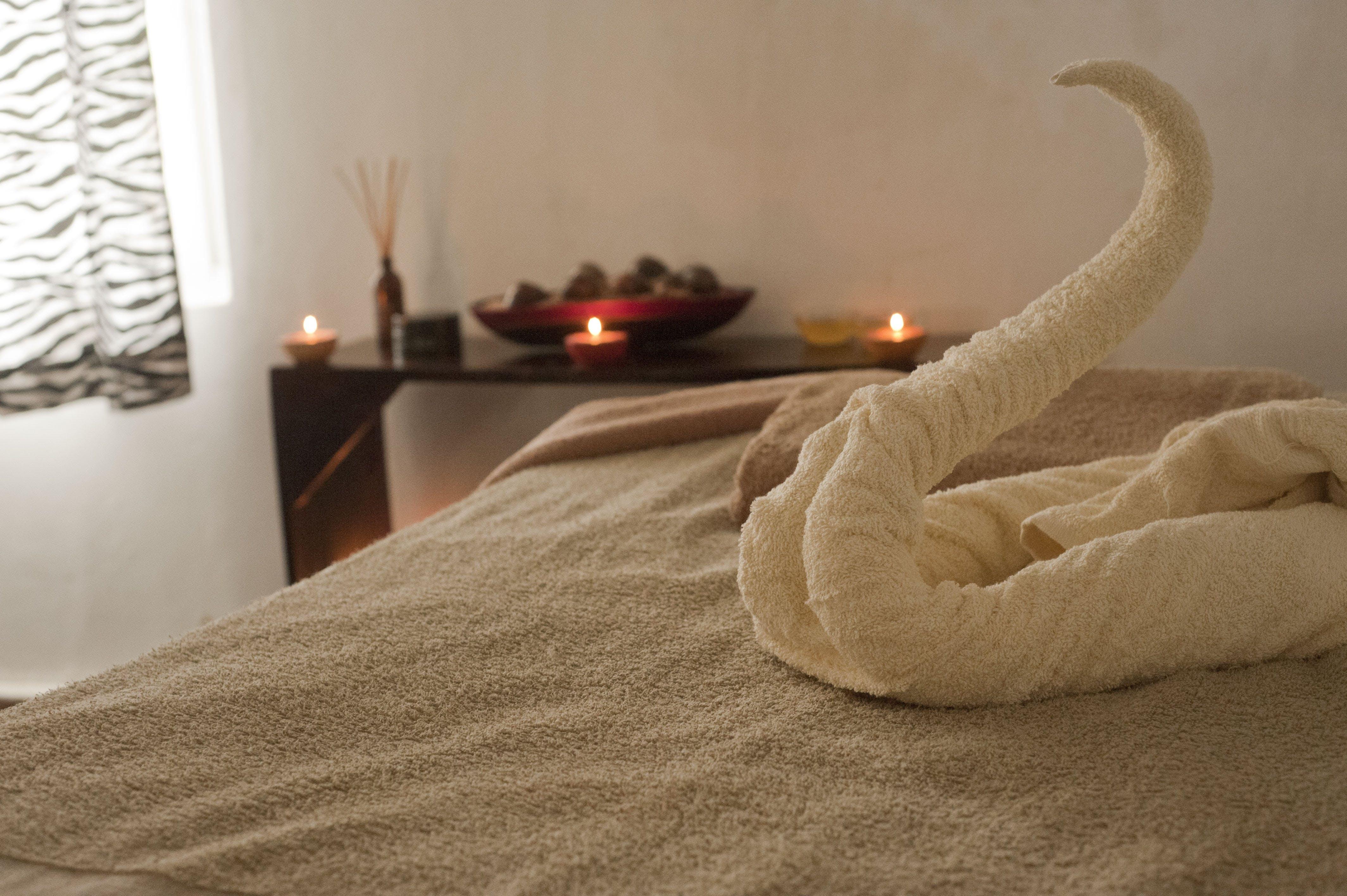 avslappning, filt, handduk