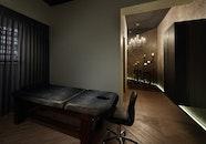 wood, lights, bed