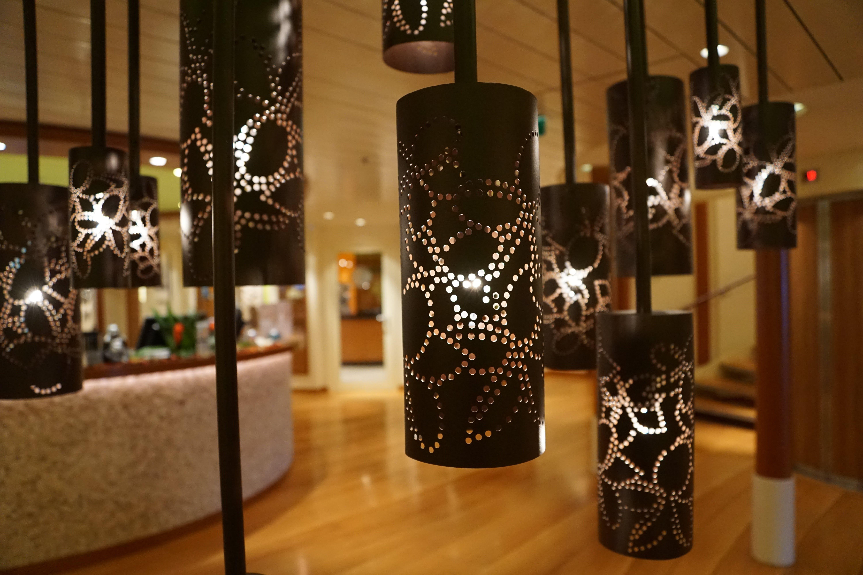 Cylinder Black Pendant Lamps