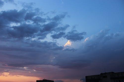 Imagine de stoc gratuită din albastru, cer, cerul orașului, fulger