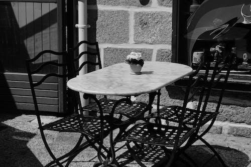 ferforgé, テラス, テーブル, リパの無料の写真素材