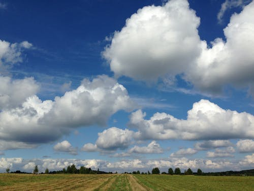 Free stock photo of blue sky, poland, white-clouds