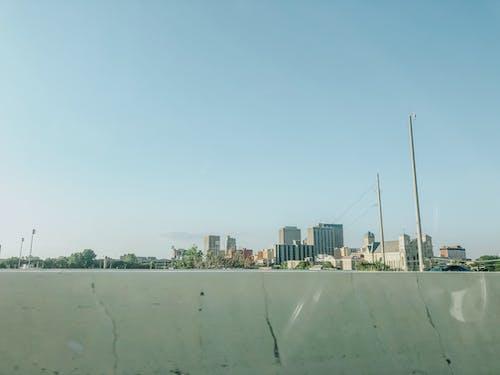 Бесплатное стоковое фото с HD-обои, голубое небо, горизонт, город