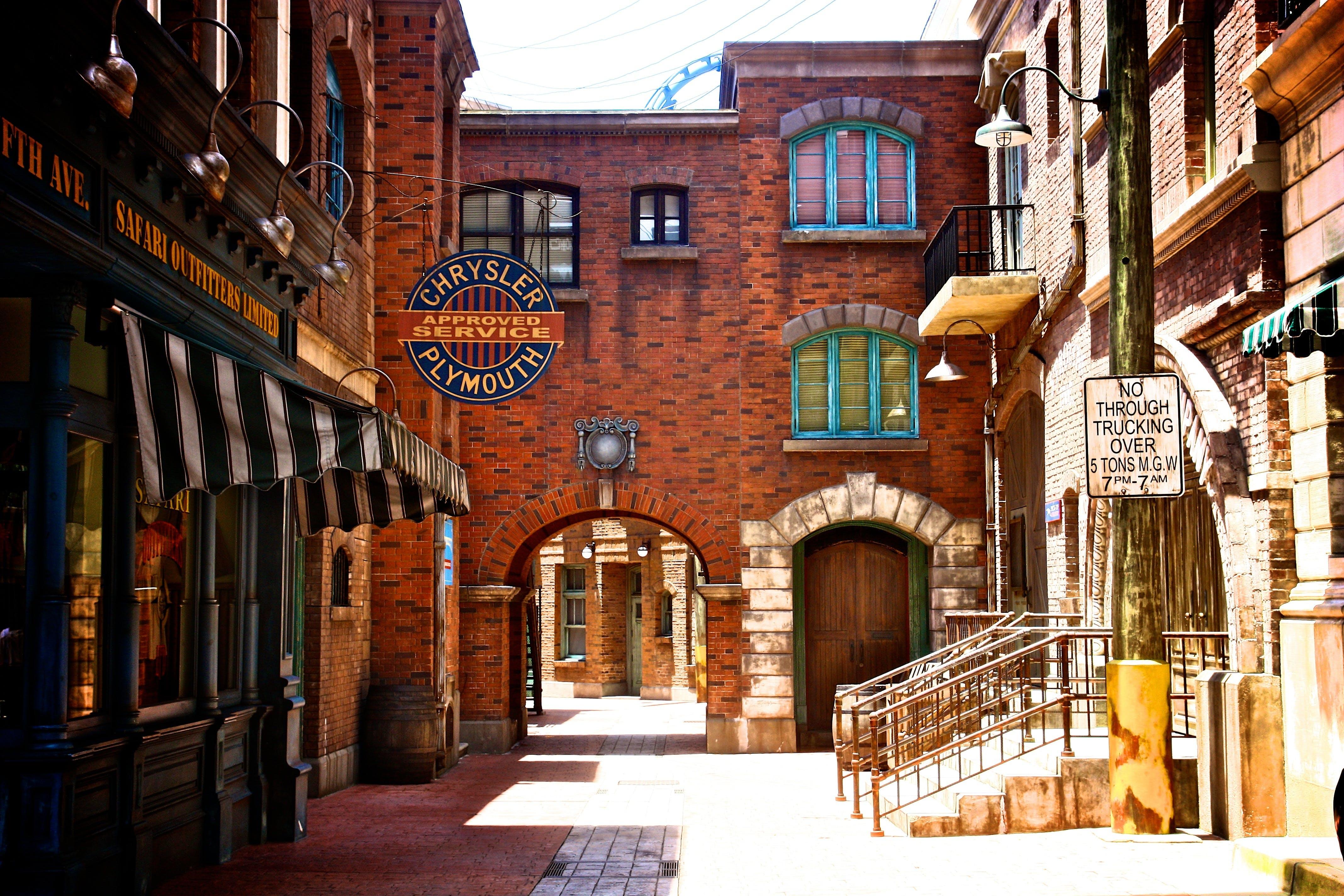 Pathway Between Restaurants