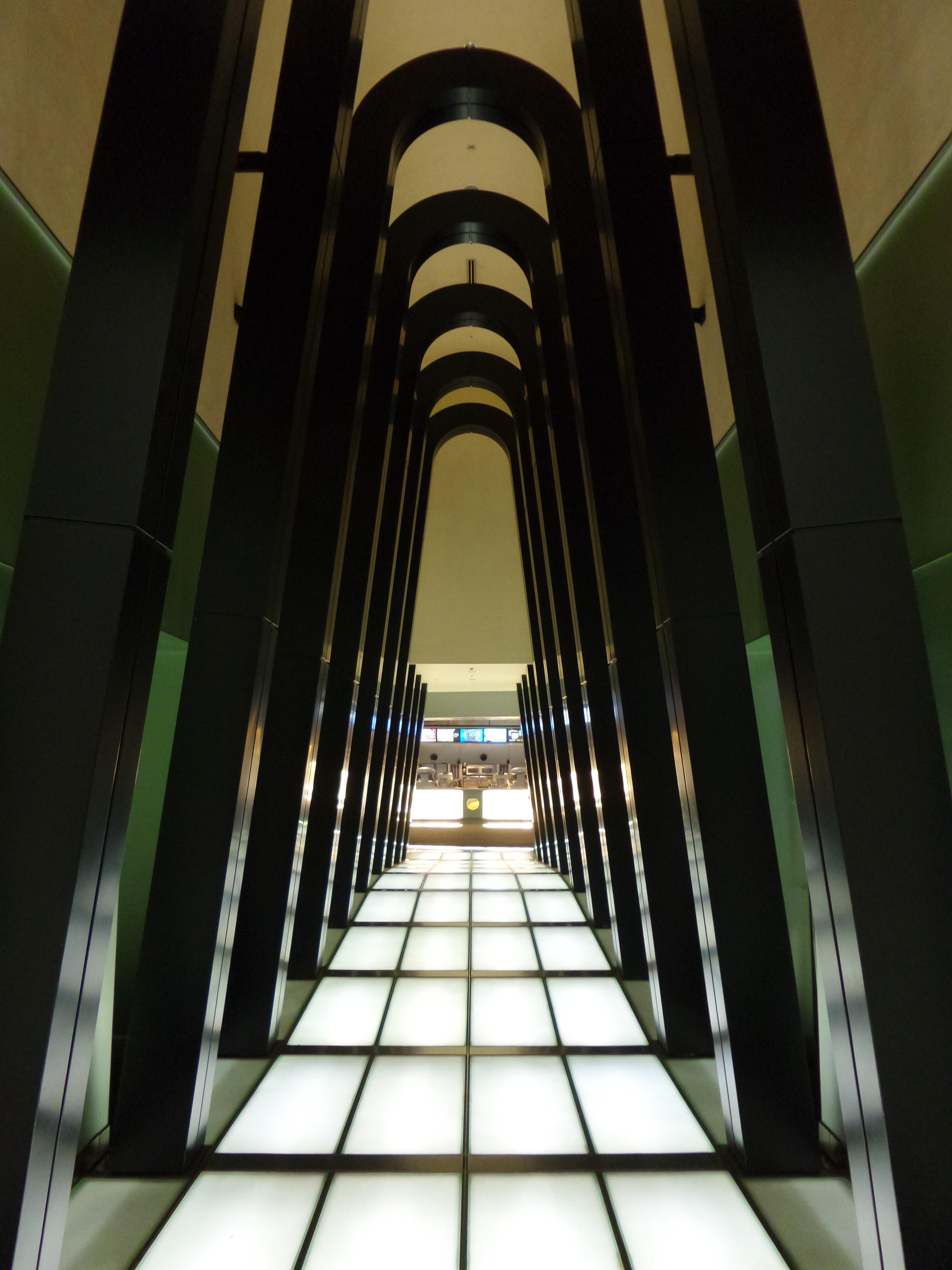 White and Black Hallway