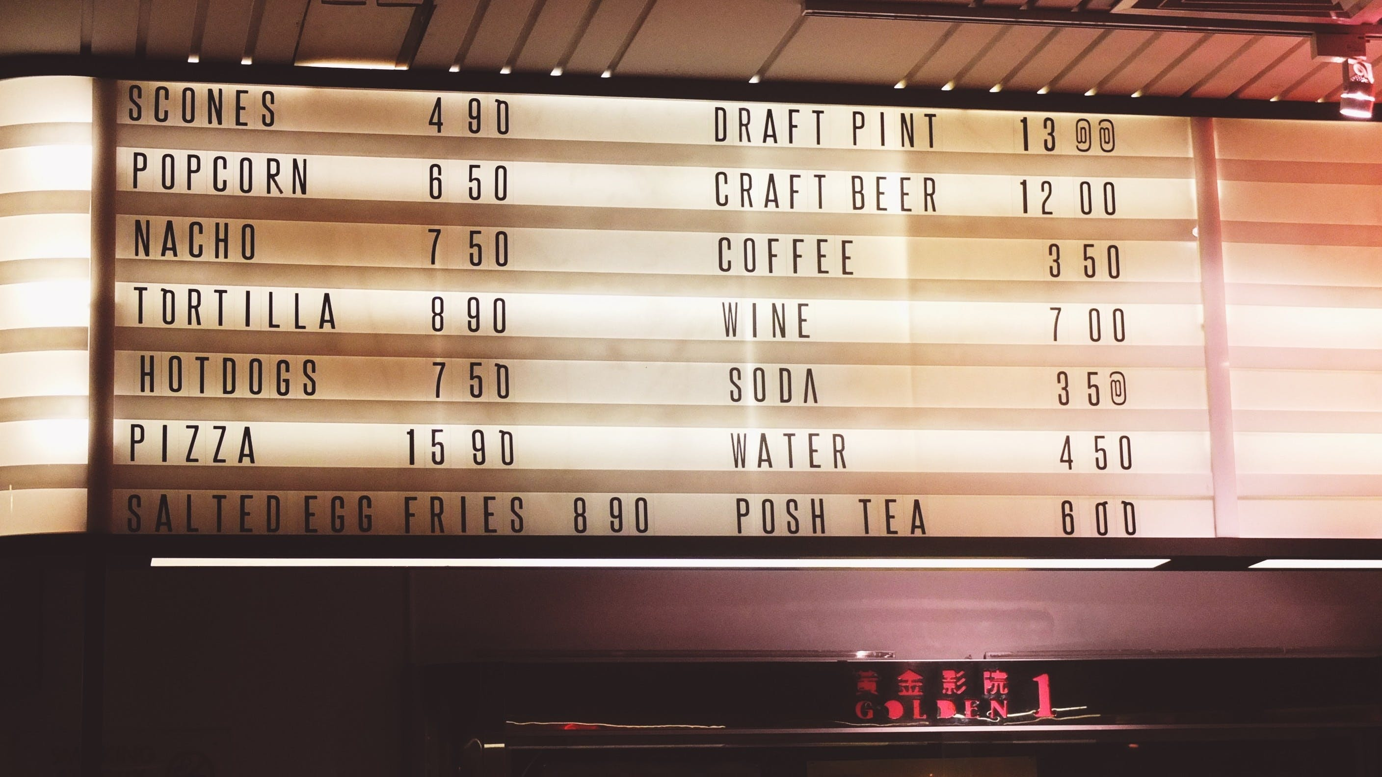 Free stock photo of menu, menu board, lights, sign