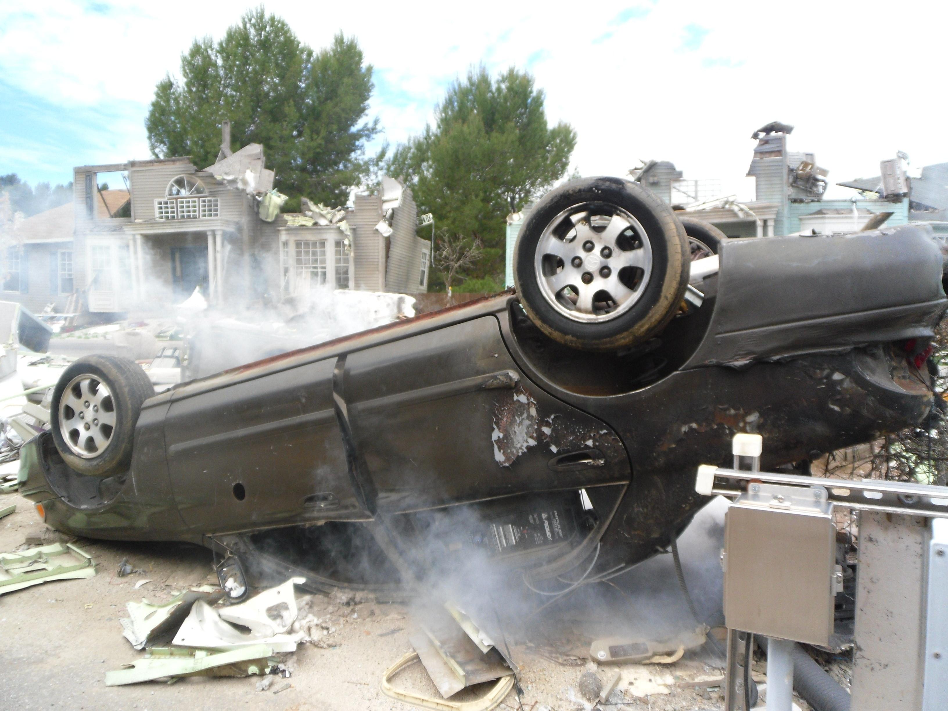 Kostenloses Foto zum Thema: auto, autounfall, dekoration
