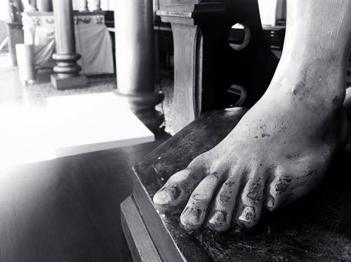 Free stock photo of b&w, church, feet, sacred