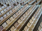wood, bench, light