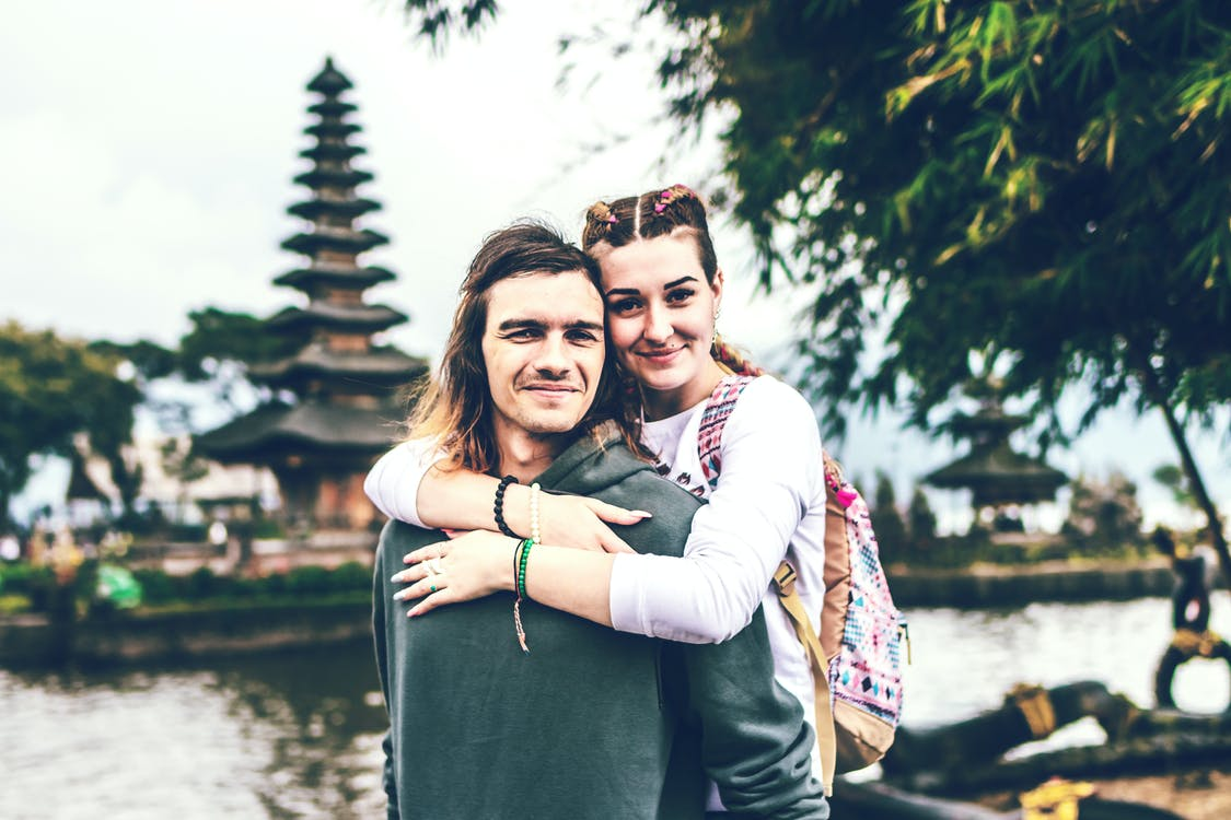Photo of Couple Smiling