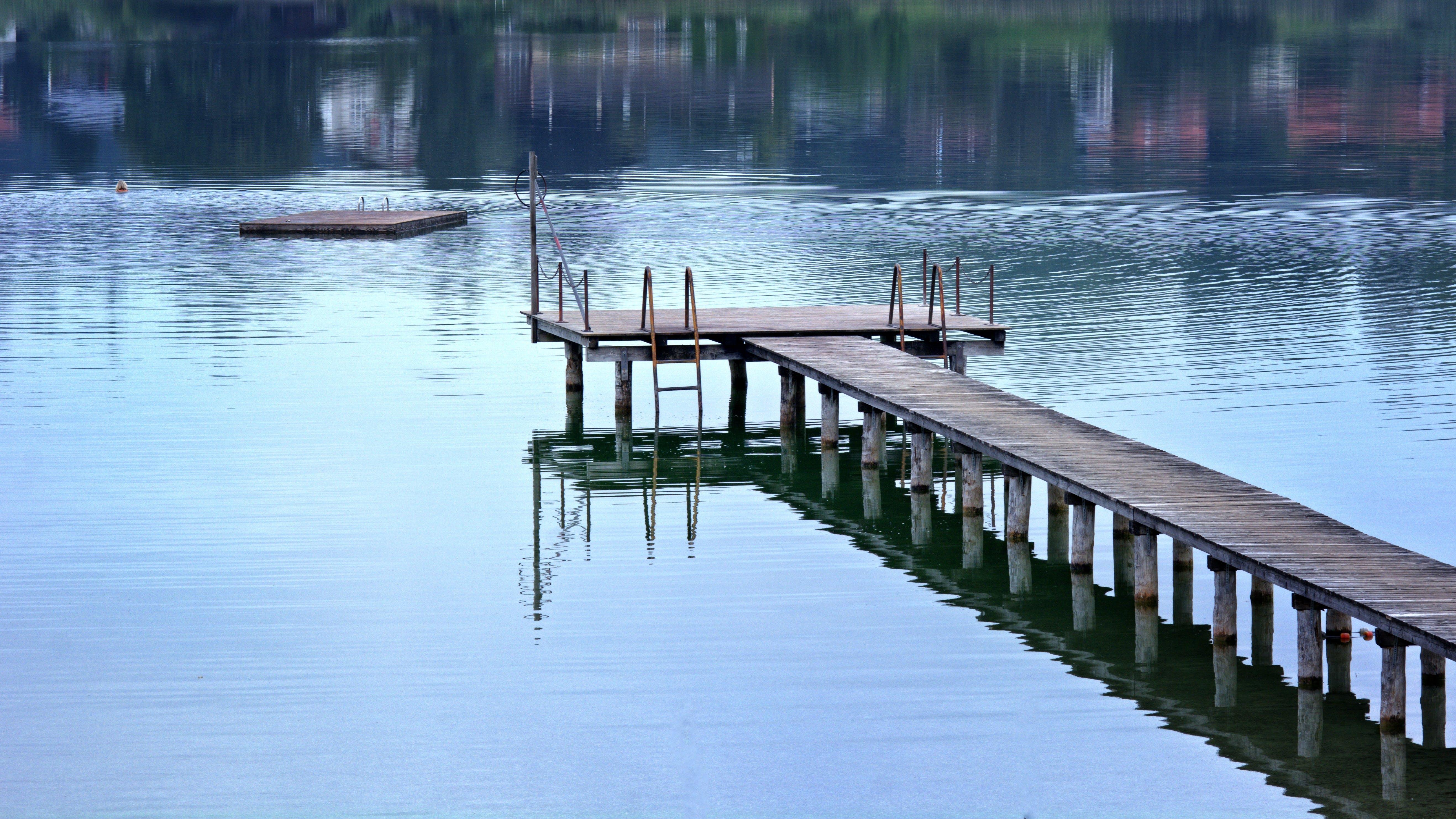 boardwalk, bridge, dawn