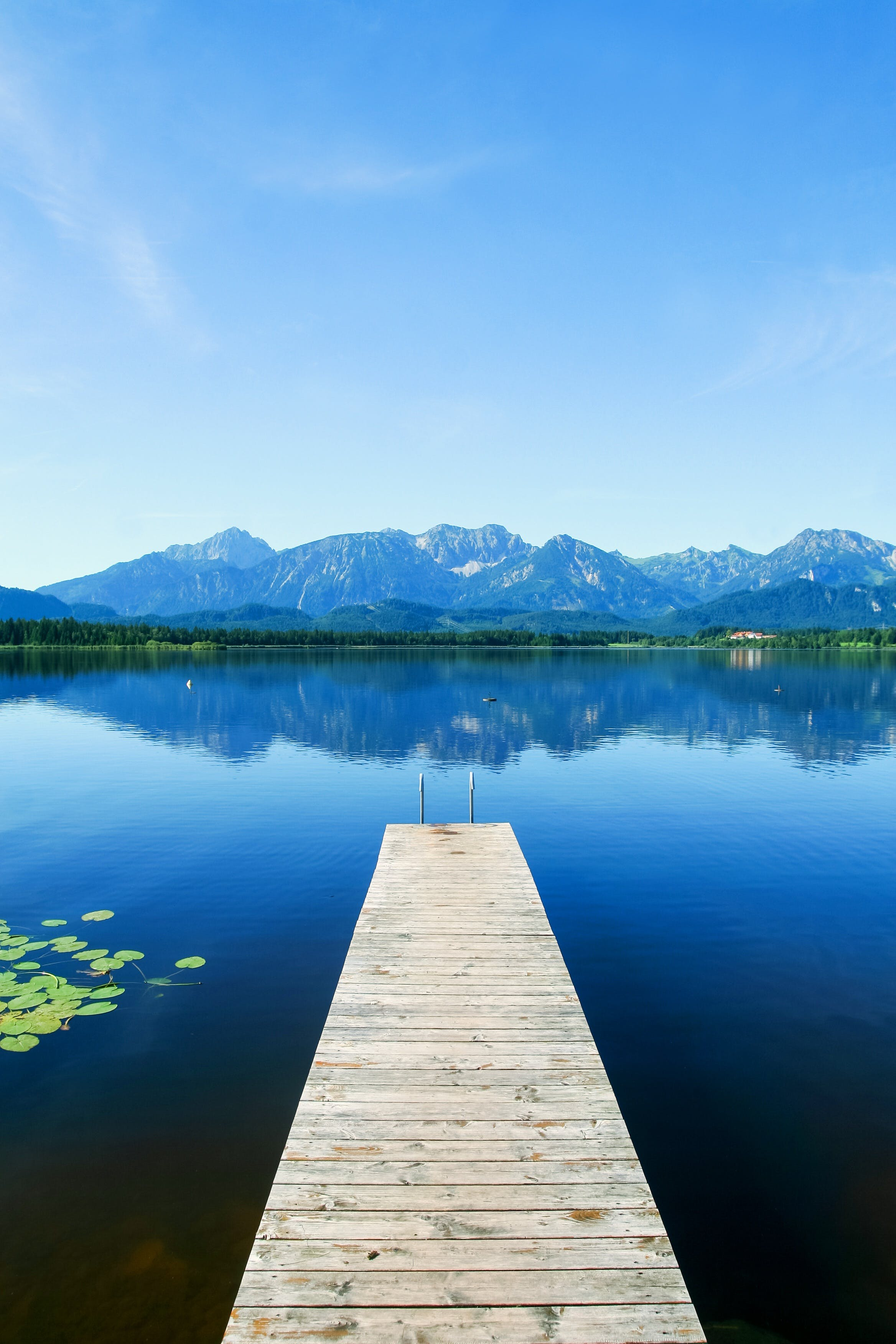 Free stock photo of jetty, mountains, water, lake