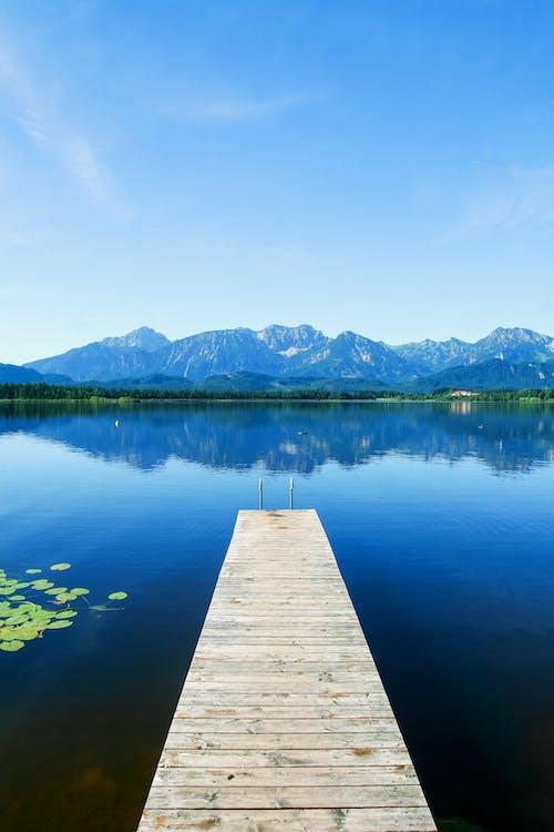 Gratis lagerfoto af anløbsbro, badebro, bjerge, fritid