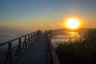 jetty, light, dawn