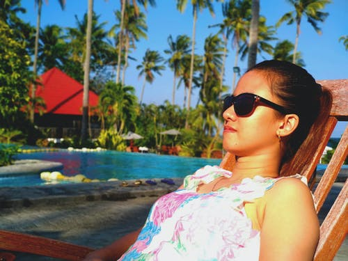 Free stock photo of mobile photography, outdoor photography, poolside, portrait