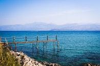 sea, landscape, mountains