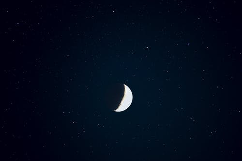 Ilmainen kuvapankkikuva tunnisteilla kuu, tähdet, tähtitaivas, tumma