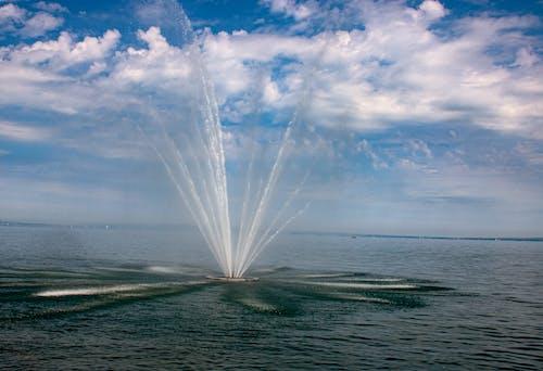 Immagine gratuita di acque azzurre, cielo, estate, Fontana di acqua