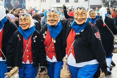 Kostenloses Stock Foto zu deutsch, gruppe, karneval, kostüm