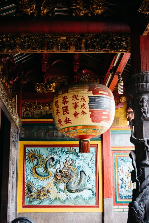 Fotobanka sbezplatnými fotkami na tému chrám, lampáš, papierové svietidlo, visiaci