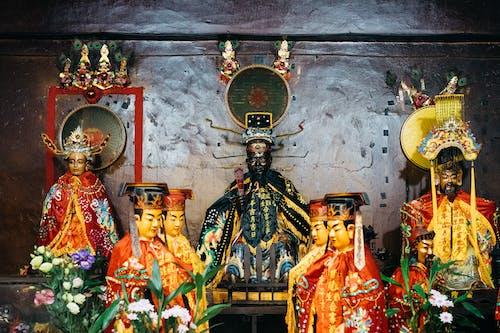 Kostenloses Stock Foto zu chinesisch, figuren, statue, tempel