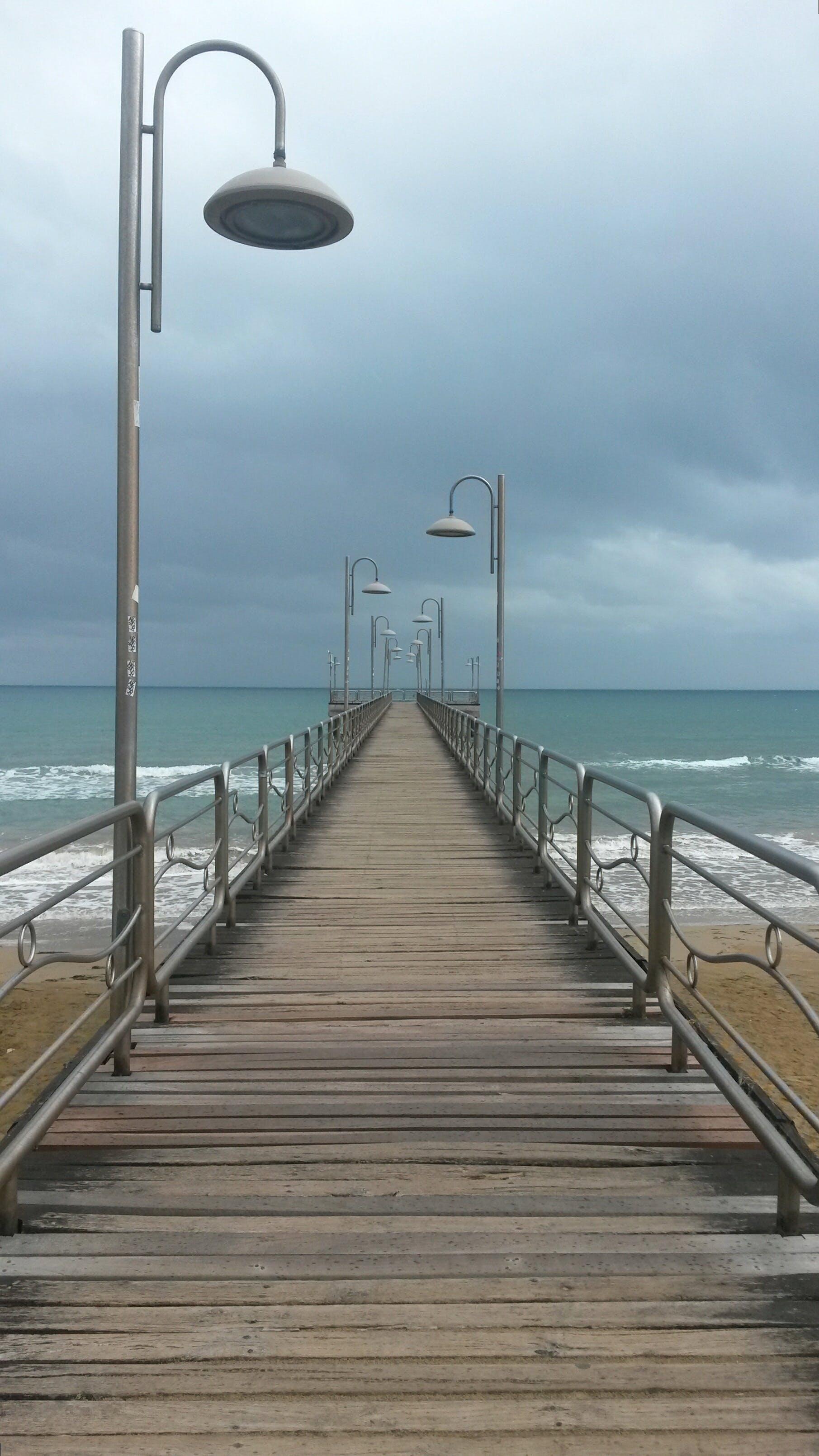 beach, boardwalk, jetty