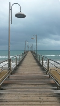 Free stock photo of jetty, sea, beach, water